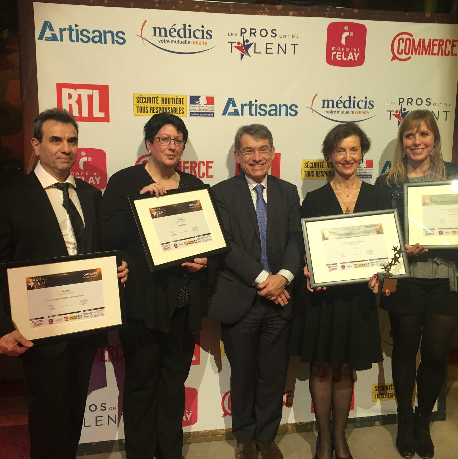 La Sécurité routière partenaire de la 3e édition des trophées « Les Pros ont du talent »