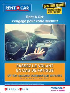 Pour les vacances d'hiver, Rent A Car offre l'assurance pour un deuxième conducteur