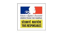 Logo Préfecture du Rhône - Sécurité routière