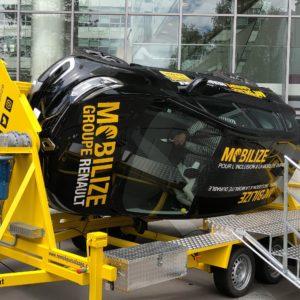 RISQUE ROUTIER PROFESSIONNEL Les collaborateurs de Renault sensibilisés grâce à une voiture tonneau
